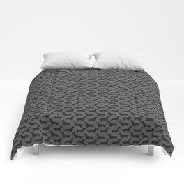 Dachshund Silhouette Comforters