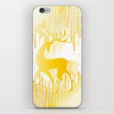 Dancing Deer  - Golden iPhone & iPod Skin