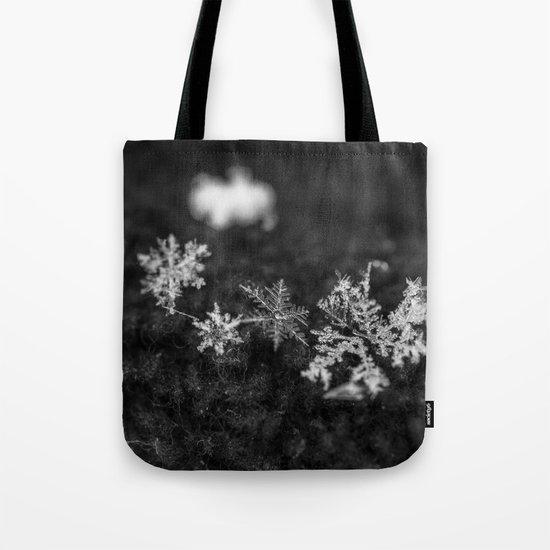 Clump of snowflakes Tote Bag