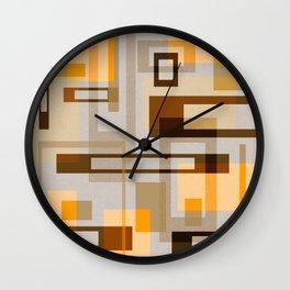 Mid Century Modern Blocks on Sand Wall Clock