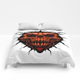 Skull royalty horror cartoon devil Comforters
