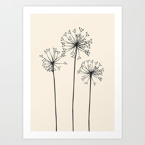 Dandelions by flowline