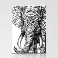 always Stationery Cards featuring Ornate Elephant by BIOWORKZ