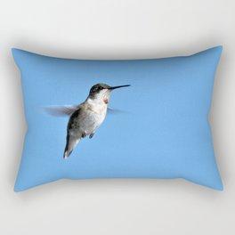 Juvenile Ruby-Throated Hummingbird Rectangular Pillow