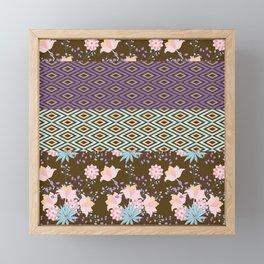 Boho Floral Framed Mini Art Print