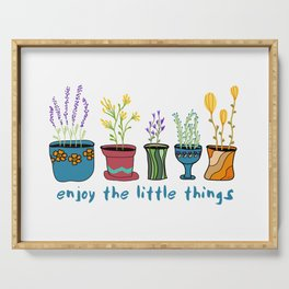 Enjoy the Little Things Serving Tray