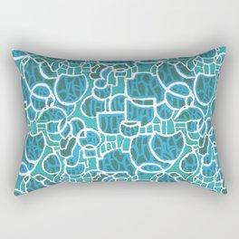Bubbles Blue Rectangular Pillow