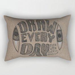 Draw Everyday Rectangular Pillow