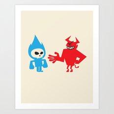 DEAL WITH DEVIL Art Print