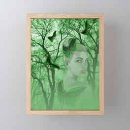 Fairy with Butterfly Tattoo Framed Mini Art Print