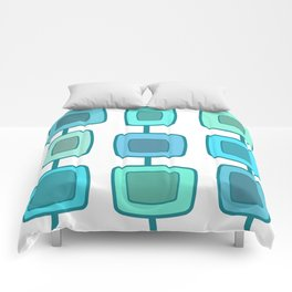 MidCentury Modern Swatches (Turquoise) Comforters