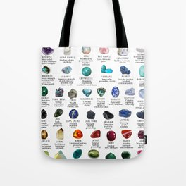 Crystal meanings and stone colours Tote Bag