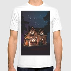 C1.3D PAPERSHOPPE BY NIGHT MEDIUM Mens Fitted Tee White