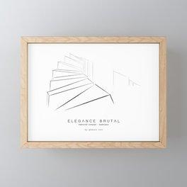 Élégance Brutal - memorial complex - Kadinjaca Framed Mini Art Print