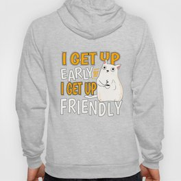 coffee late riser cat early to get up present Hoody