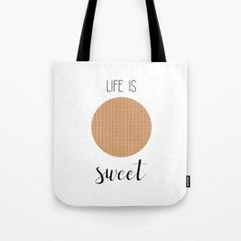 Life Is Sweet Stroopwafel Tote Bag