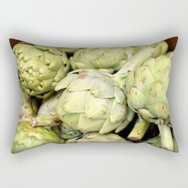 Artichokes | Green | Vegetables | Kitchen |Food Photography | Nadia Bonello Rectangular Pillow