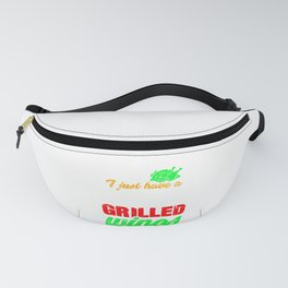 Wing Lover Have a Deep Passion for Grilled Wings Fanny Pack