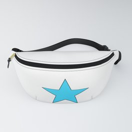 Bright Blue Star Fanny Pack