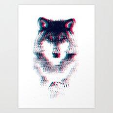 Act like a wolf. Art Print