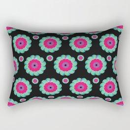 digital flower Rectangular Pillow