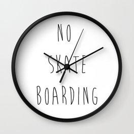 no skateboarding  Wall Clock
