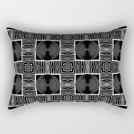 Fenced Coins Tribal-Inspired Pattern Rectangular Pillow