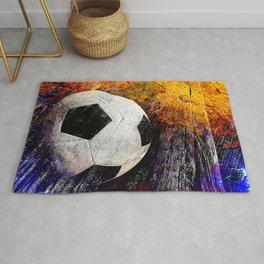 Soccer ball vs 7 Rug
