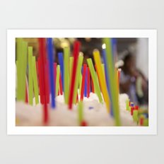 Straw market Art Print