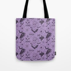 Spooky Scary Halloween print Tote Bag