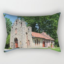Lourdes University-  Portiuncula  Chapel in the Spring IV Rectangular Pillow