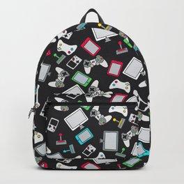 Retro Gamer Video Controller Gaming Pattern Black Backpack