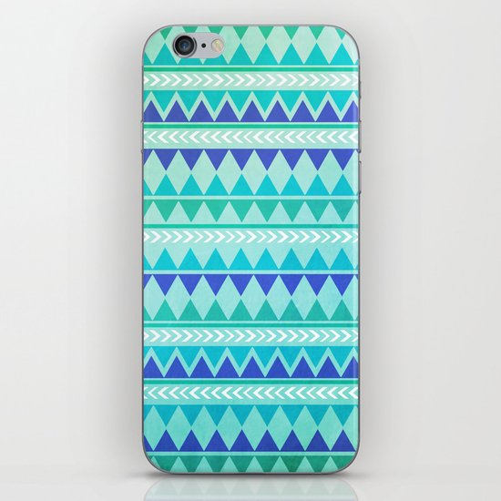 Winter Aztec Pattern iPhone & iPod Skin
