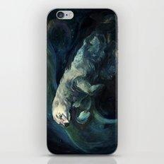 Polar Bear Swimming in Northern Lights iPhone & iPod Skin