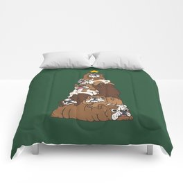 Christmas Tree English Bulldog Comforters
