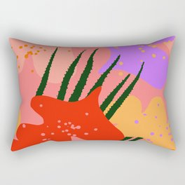 water lily pads and plant Rectangular Pillow