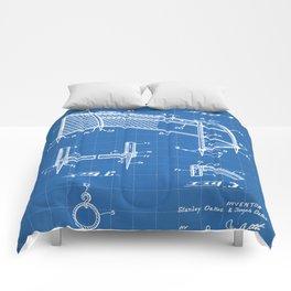 Soccer Patent - Soccer Goal Art - Blueprint Comforters
