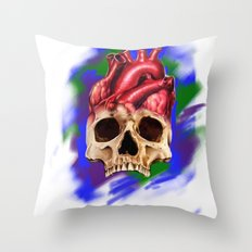 Think With Your Heart Throw Pillow