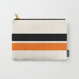 2 Stripes Black Orange Carry-All Pouch