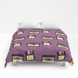Floppy disk and cassette tape Comforters