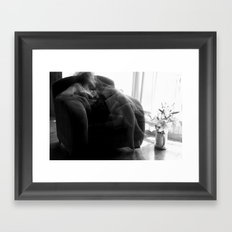 When I'm thinking about you... Framed Art Print