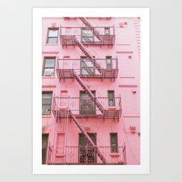 Pink Soho NYC Art Print