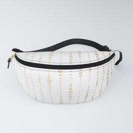 NYC Nights Gold Polka Dot Stripes Fanny Pack