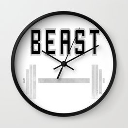 I am a beast at the gym Wall Clock