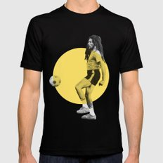 Marley playing soccer Mens Fitted Tee Black LARGE