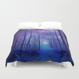 Fantasy Path Purple Blue Duvet Cover