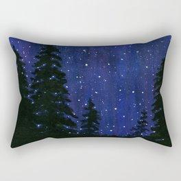 Twinkle, Twinkle, Stars Night Sky Painting Rectangular Pillow