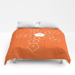 Orange Unrolled D12 Comforters