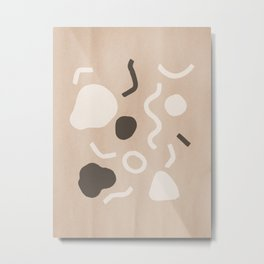 Abstract Confetti Metal Print
