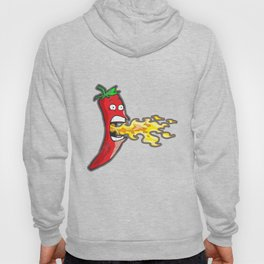 Chilli Pepper Breathing Fire Funny Hot Food Sauce Tshirt Hoody
